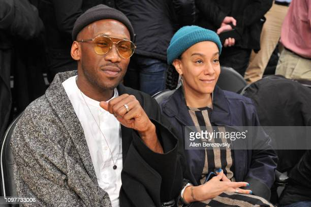 Mahershala Ali and Amatus Sami-Karim attend a basketball game between the Los Angeles Lakers and the Golden State Warriors at Staples Center on...