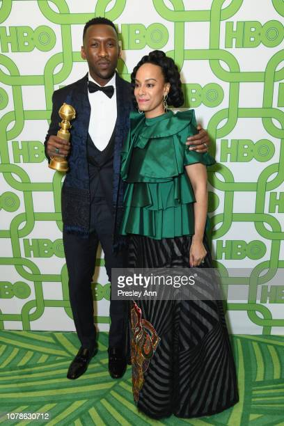 Mahershala Ali and Amatus SamiKarim attend HBO's Official Golden Globe Awards After Party at Circa 55 Restaurant on January 6 2019 in Los Angeles...
