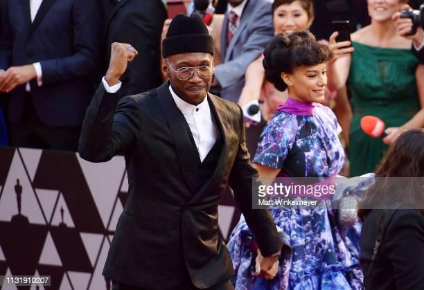 Mahershala Ali and Amatus SamiKarim attend the 91st Annual Academy Awards at Hollywood and Highland on February 24 2019 in Hollywood California
