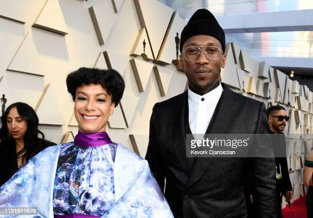 Mahershala Ali and Amatus SamiKarim attend the 91st Annual Academy Awards at Hollywood and Highland on February 24 2019 in Hollywood California