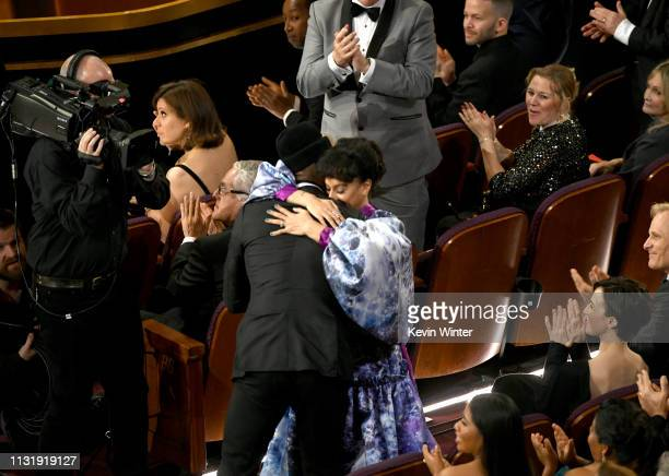 Mahershala Ali and Amatus SamiKarim attend the 91st Annual Academy Awards at Dolby Theatre on February 24 2019 in Hollywood California