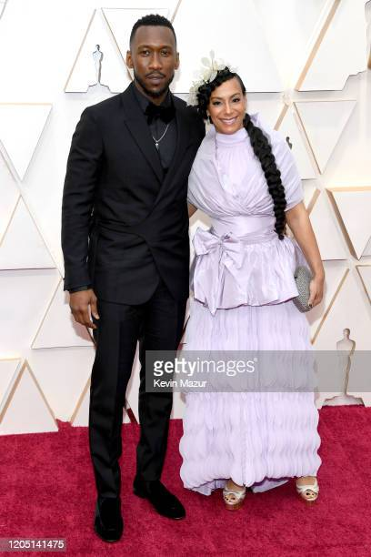 Mahershala Ali and Amatus SamiKarim attend the 92nd Annual Academy Awards at Hollywood and Highland on February 09 2020 in Hollywood California