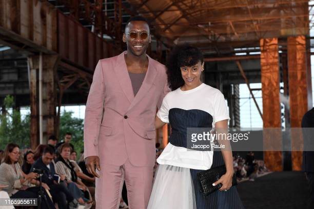 Mahershala Ali and Amatus SamiKarim attend the Ermenegildo Zegna fashion show during the Milan Men's Fashion Week Spring/Summer 2020 on June 14 2019...