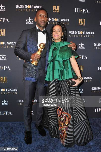 Mahershala Ali and Amatus SamiKarim attend the official viewing and after party of The Golden Globe Awards hosted by The Hollywood Foreign Press...