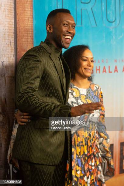 Mahershala Ali and Amatus SamiKarim attend the premiere of HBO's True Detective Season 3 at Directors Guild Of America on January 10 2019 in Los...