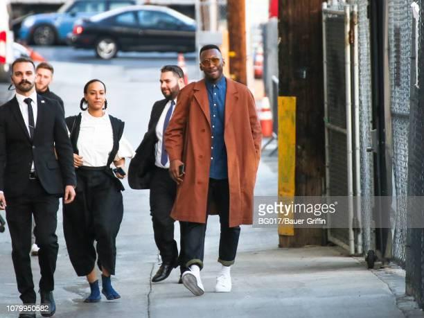 Mahershala Ali and Amatus-Sami Karim are seen arriving at 'Jimmy Kimmel Live' on January 09, 2019 in Los Angeles, California.
