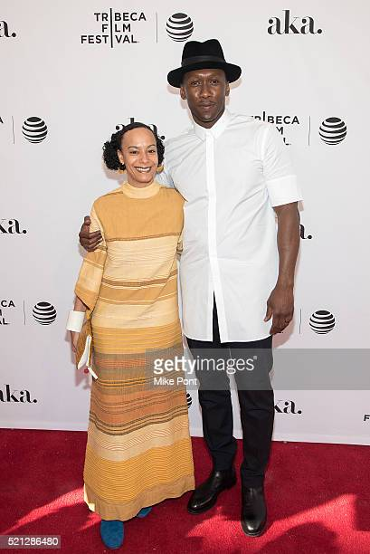 Mahershala Ali and guest attend the Kicks premiere during the 2016 Tribeca Film Festival at SVA Theatre on April 14 2016 in New York City