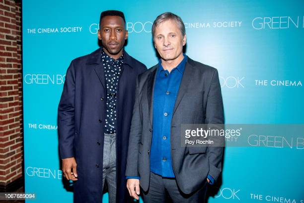 Mahershala Ali and Viggo Mortensen attend the Green Book New York Special Screening hosted by the Cinema Society at The Roxy Hotel Cinema on November...