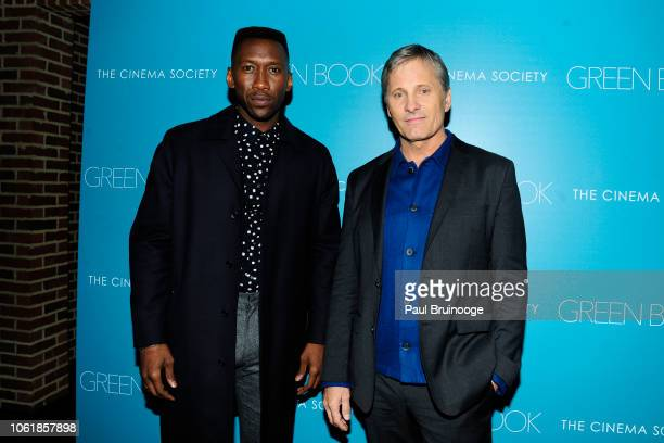 Mahershala Ali and Viggo Mortensen attend Universal Pictures With The Cinema Society Host A Special Screening Of Green Book at The Roxy Cinema NYC on...