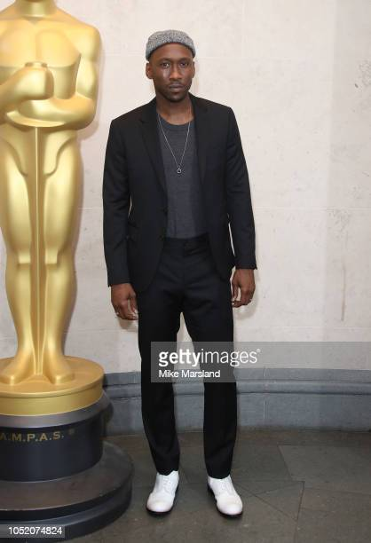 Mahershala Ali attends The Academy of Motion Picture Arts and Sciences new members reception at The National Gallery on October 13 2018 in London...