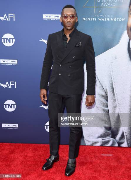 Mahershala Ali attends the American Film Institute's 47th Life Achievement Award Gala Tribute to Denzel Washington at Dolby Theatre on June 06 2019...