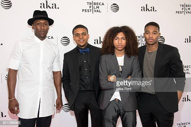 Mahershala Ali Christopher Jordan Wallace Jahking Guillory and Christopher Meyer attend the Kicks premiere during the 2016 Tribeca Film Festival at...