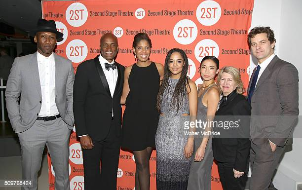 Mahershala Ali Kenny Leon Lydia R Diamond Tessa Thompson Anne Son artistic director Carole Rothman and Joshua Jackson attend the OffBroadway Opening...