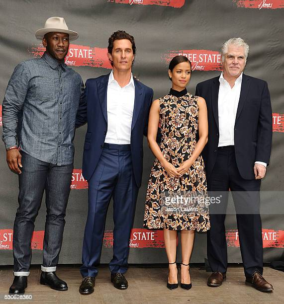 Mahershala Ali Matthew McConaughey Gugu MbathaRaw and Gary Ross attend a photo call for Free State of Jones at Four Seasons Hotel Los Angeles at...