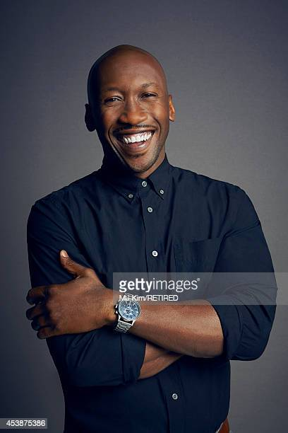 Mahershala Ali poses for a portrait at the Getty Images Portrait Studio powered by Samsung Galaxy at ComicCon International 2014 on July 24 2014 in...