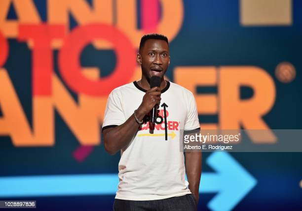 Mahershala Ali speaks onstage at the sixth biennial Stand Up To Cancer telecast at the Barkar Hangar on Friday September 7 2018 in Santa Monica...