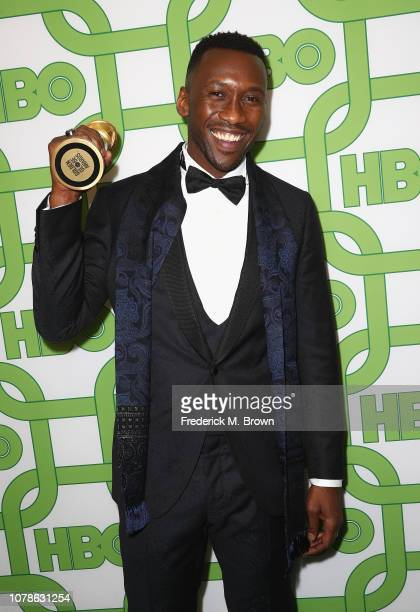 Mahershala Ali, winner of Best Performance by an Actor in a Supporting Role in a Motion Picture for 'Green Book,' attends HBO's Official Golden Globe...