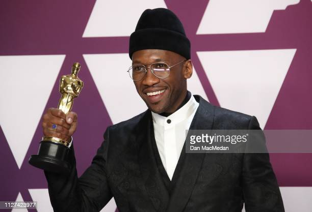 Mahershala Ali winner of Best Supporting Actor for 'Green Book' poses in the press room at the 91st Annual Academy Awards at Hollywood and Highland...