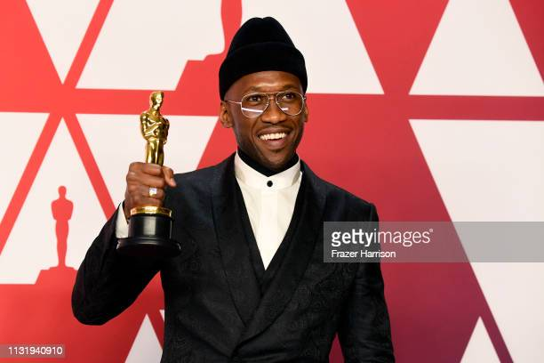 Mahershala Ali winner of Best Supporting Actor for Green Book poses in the press room during the 91st Annual Academy Awards at Hollywood and Highland...