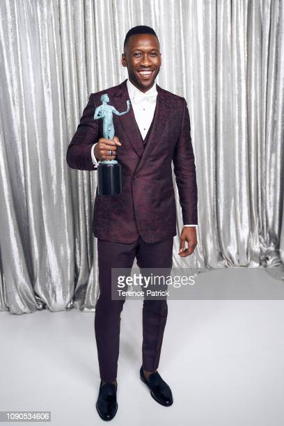 Mahershala Ali winner of Outstanding Performance by a Male Actor in a Supporting Role in 'Green Book' poses in the Winner's Gallery during the 25th...