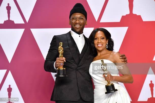 "Mahershala Ali, winner of the Best Supporting Actor award for ""Green Book"" and Regina King, winner of the Best Supporting Female Actor award for ""If..."