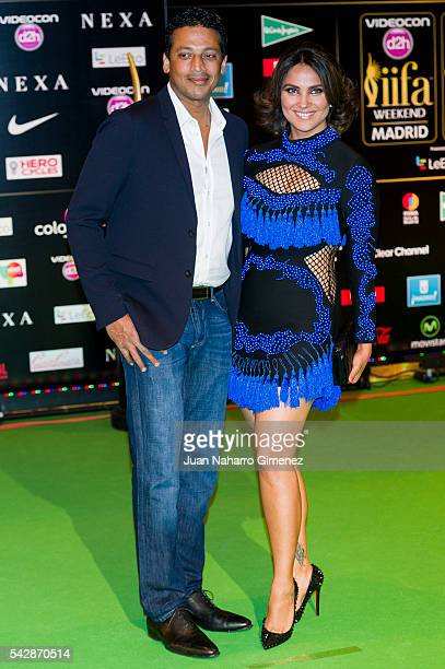 Mahes Bhupathi and Lara Dutta attend IIFA Awards 2016 Rocks Green Carpet at Ifema on June 24 2016 in Madrid Spain