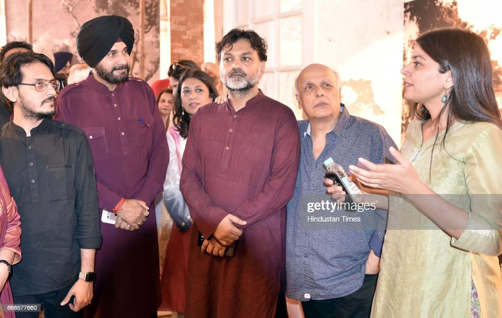 Mahesh Bhatt director in Bollywood along Srijit Mukherji director film Begum Jaan Navjot Sidhu Minister Punjab Local bodies visit at Partition Museum.