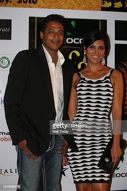 Mahesh Bhupathi and Lara Dutta at the IIFA awards in Colombo on June 4 2010