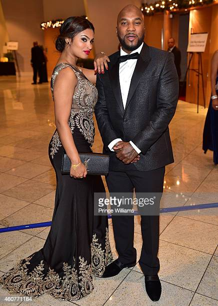 Mahi and Young Jeezy attend the 2014 UNCF Mayor's Masked Ball at Atlanta Marriot Marquis on December 20 2014 in Atlanta Georgia