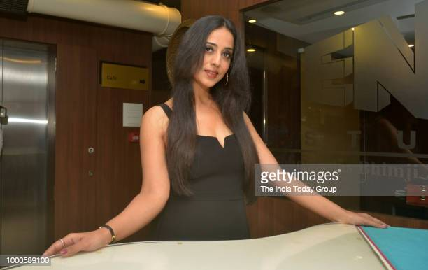 Mahi Gill during the promotional song shoot of her film 'Saheb Biwi Aur Gangster 3' in Mumbai