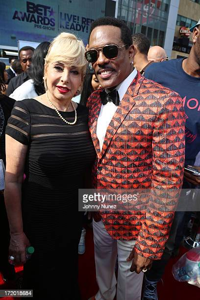 Mahin Wilson and Charlie Wilson attend BET Awards Red Carpet And PreShow Telecast at Nokia Plaza LA LIVE on June 30 2013 in Los Angeles California