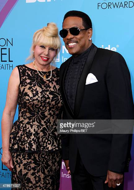 Mahin Wilson and singer Charlie Wilson attend the BET Celebration of Gospel 2014 at Orpheum Theatre on March 15 2014 in Los Angeles California