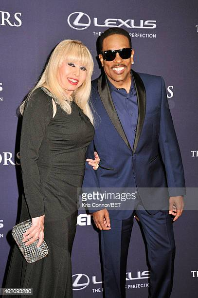 Mahin Wilson and singer Charlie Wilson attend The BET Honors 2015 at Warner Theatre on January 24 2015 in Washington DC