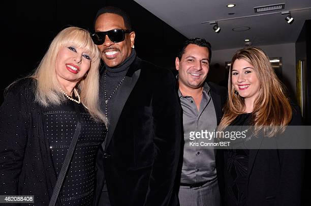 Mahin Wilson Charlie Wilson and guests attend the Debra Lee Honoree Dinner on January 23 2015 in Washington DC