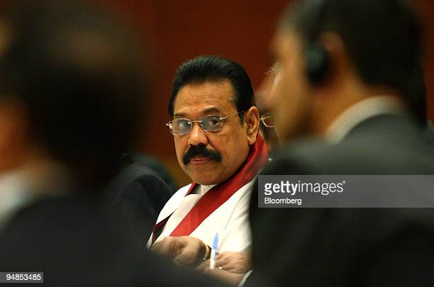 Mahinda Rajapaksa president of Sri Lanka attends the second Bay of Bengal Initiative for MultiSectoral Technical and Economic Cooperation in New...