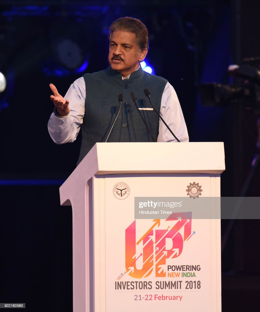 Mahindra group chairman Ananda Mahindra at the inaugural session of the UP Investors' Summit - 2018 at the Indira Gandhi Pratishthan, on February 21, 2018 in Lucknow, India. PM Modi said that investors in Uttar Pradesh will be welcomed with a red carpet instead of facing red tape in Uttar Pradesh as top industry leaders pledged investments of over Rs 88,000 crore in the state. The Summit is aimed at showcasing the investment opportunities and potential in the various sectors of Uttar Pradesh. The UP Investors' Summit is being attended by around 5,000 people, including industry leaders from India and abroad, chief ministers, union ministers, policy makers and academicians.