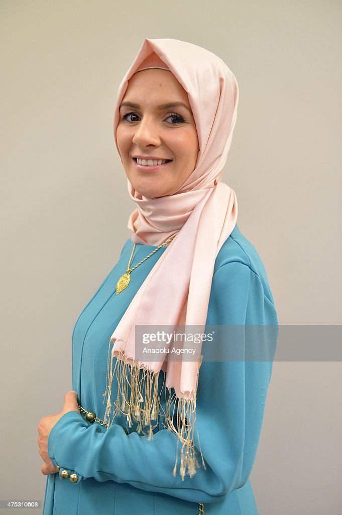 Mahinur Ozdemir, who is the first woman with a headscarf to become member of the Belgian parliament, poses ahead of an exclusive interview in Brussels, Belgium on May 30, 2015. Ozdemir refused to recognize the 1915 events as genocide and was later expelled by a committee from her party, the Humanist Democratic Centre (CHD).