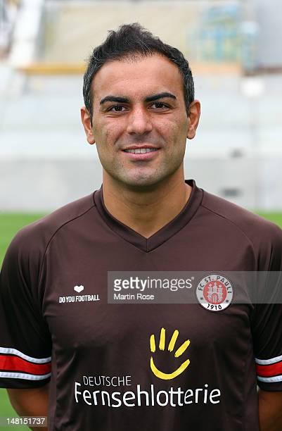 Mahir Saglik poses during the team presentation of FC StPauli at Millerntor stadium on July 11 2012 in Hamburg Germany