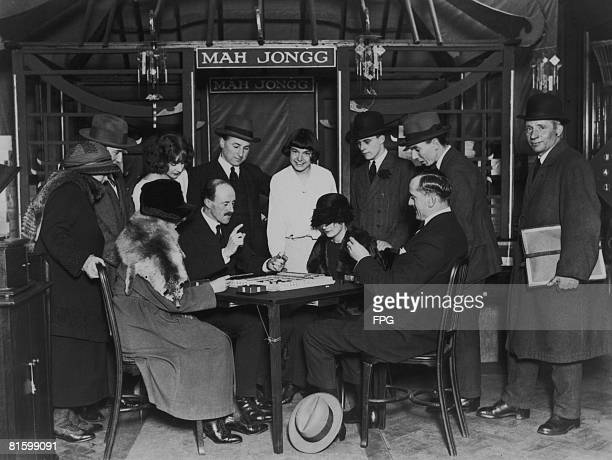 A Mahjong class in progress at Selfridge's department store in London circa 1925 The Chinese game has been popularized in the US and has become a...