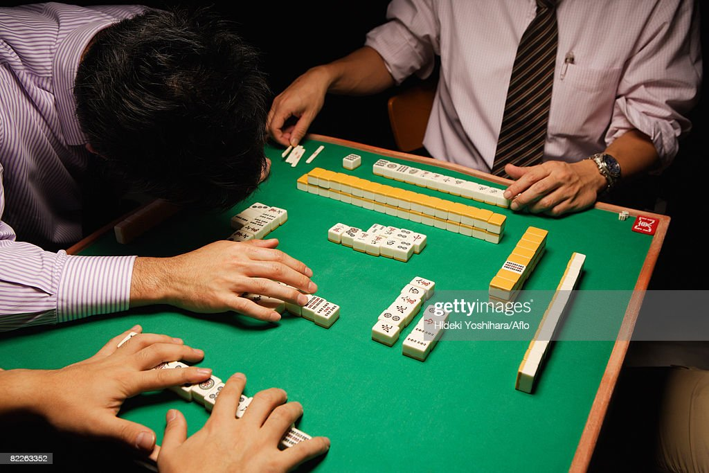Mahjong players : Stock Photo