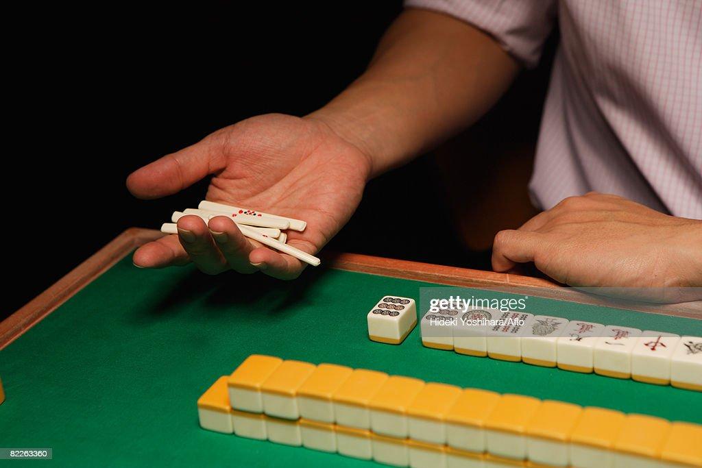 Mahjong players : Stock Photo