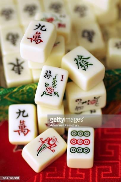 mahjong tiles - mahjong stock photos and pictures