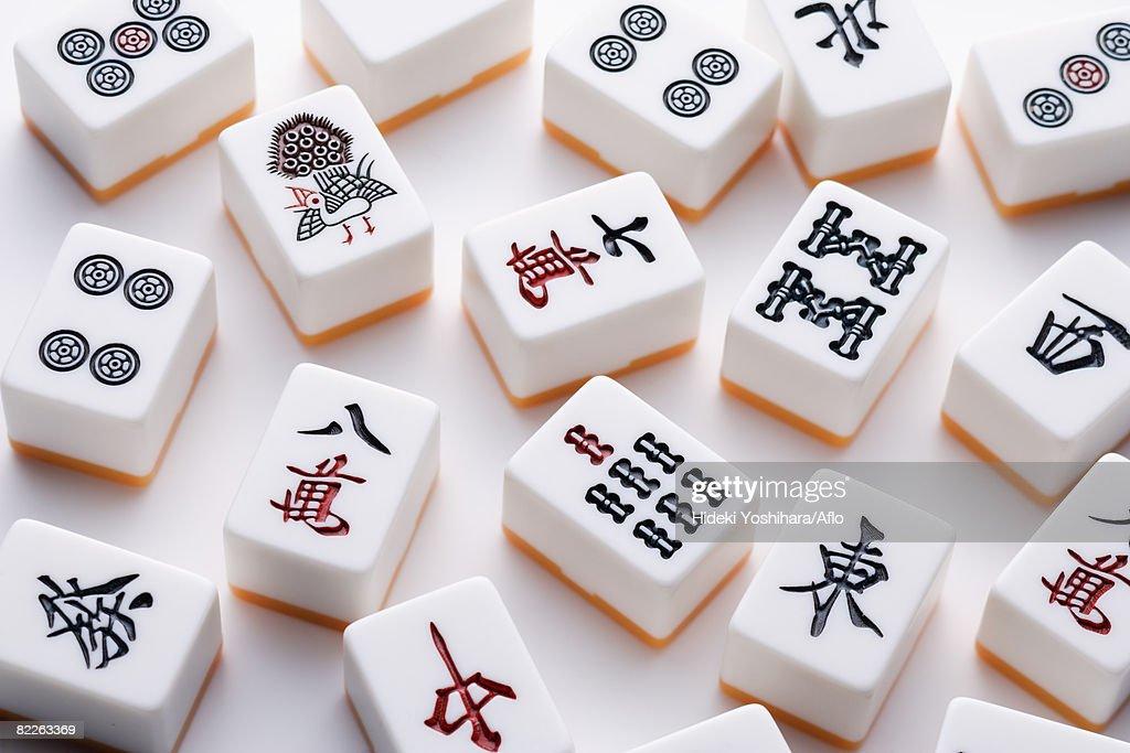 Mahjong tiles : Stock Photo