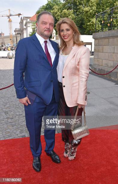 Mahkameh Navabi and Alexander Fuerst zu SchaumburgLippe attend the Staatsoper fuer alle event on June 15 2019 in Berlin Germany