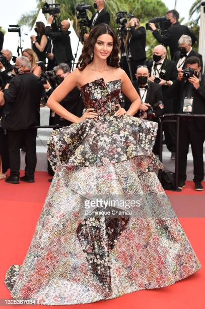"""Mahlagha Jaberi attends the """"The French Dispatch"""" screening during the 74th annual Cannes Film Festival on July 12, 2021 in Cannes, France."""
