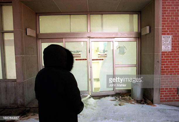 Rear Entrance way to former Princess Margaret Hospital supposedly will be entrance to new homeless shelter Door is presently jammed and immovable Pix...