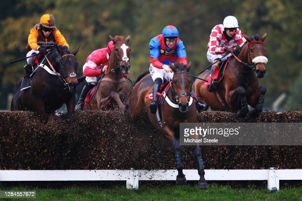 Mahlervous ridden by A P Heskin leads Igor ridden by Sam Waley-Cohen , Getareason ridden by Lorcan Williams and Sevarano ridden by Brendan Powell in...