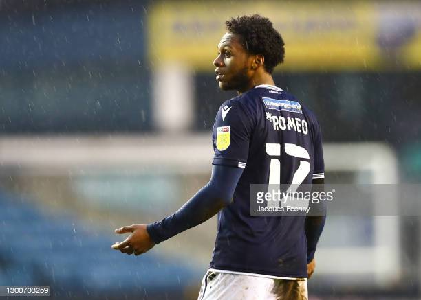 Mahlon Romeo of Millwall FC looks on during the Sky Bet Championship match between Millwall and Sheffield Wednesday at The Den on February 06, 2021...