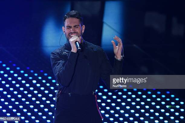 Mahmood during the 66th Sanremo Music Festival on February 11 2016