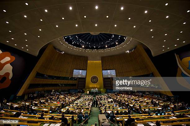 Mahmoud Abbas, president of the Palestinian Authority, speaks at the 64th annual United Nations General Assembly in New York, U.S., on Friday, Sept....